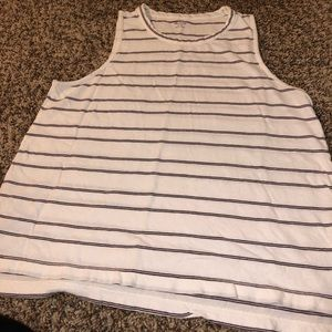 Madewell stripped tank top black & white